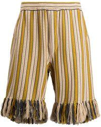 Cmmn Swdn Alvar Knitted Drawstring Shorts - Yellow