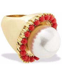 Oscar de la Renta Pearl-embellished Ring - Metallic