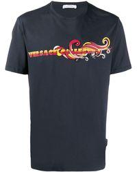 Versace ロゴ Tシャツ - ブルー