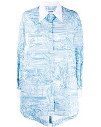 BROGNANO オーバーサイズ シャツ - ブルー