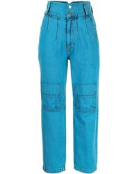 SJYP High-waisted Cropped Jeans - Blue