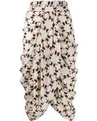 Isabel Marant Jupe mi-longue drapée - Multicolore