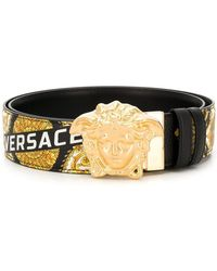 Versace - Cinturón con estampado barroco y Medusa - Lyst