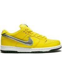 Nike Кроссовки Dunk Low Pro Og Qs - Желтый