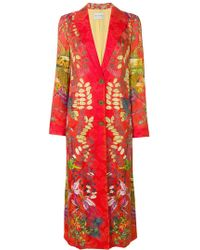 Etro - Floral Print Single Breasted Coat - Lyst