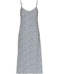 Reformation Платье Миди Boston С Цветочным Принтом - Синий