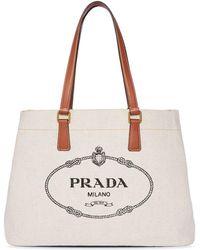 Prada - ロゴ ハンドバッグ - Lyst