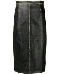Miu Miu - Faded Detail Skirt - Lyst