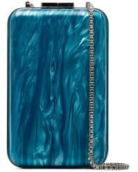 Marzook And Pink Marbled Clutch Bag - Blue