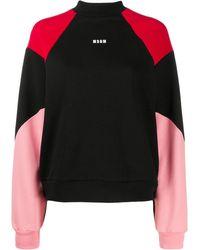 MSGM - カラーブロック スウェットシャツ - Lyst