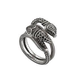 Gucci Garden Snakes Ring - Metallic