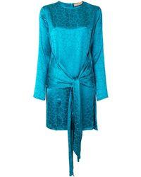 ANDAMANE アニマルプリント ドレス - ブルー
