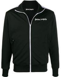 Palm Angels Veste zippée à logo imprimé - Noir