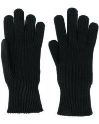 Moncler ロゴ ニット手袋 - ブラック