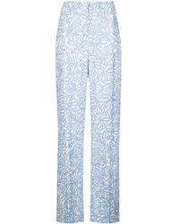 Jacquemus Floral Print Trousers - Blue