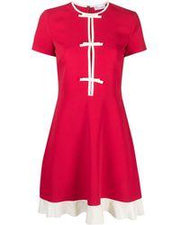 RED Valentino Vestito corto con fiocco - Rosso