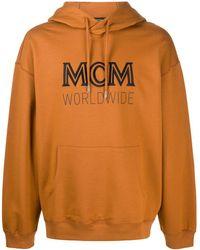 MCM ロゴ パーカー - ブラウン
