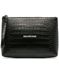 Balenciaga - Клатч С Тисненым Логотипом - Lyst