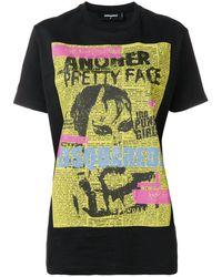 DSquared² Punk Poster T-shirt - Black