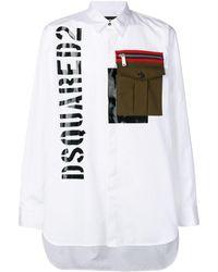 DSquared² - Camicia oversize con taschino - Lyst