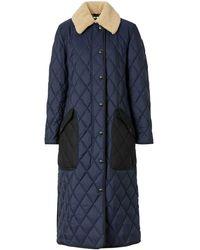 Burberry デタッチャブルカラー コート - ブルー