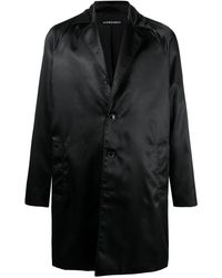 Y. Project Satin-finish Single-breasted Coat - Black