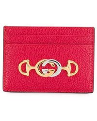 fcbc8431bc9a Gucci - Double G Horsebit Card Case - Lyst