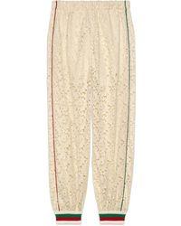 Gucci Pantalone da jogging in pizzo floreale - Neutro