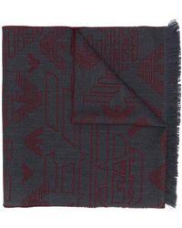 Emporio Armani Sjaal Met Logoprint - Grijs