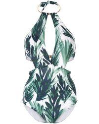 Moeva - Leslie Palm-print Swimsuit - Lyst