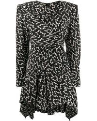 Isabel Marant ロングスリーブ ドレス - ブラック