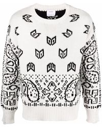 Rhude Paisley-print Cotton Sweater - White
