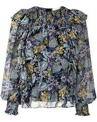 Cinq À Sept Blouse Harriet à fleurs - Bleu