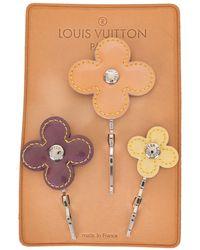 Louis Vuitton Fermacapelli con fiori 2002 - Marrone