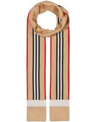 Burberry Fular con estampado Icon Stripe - Multicolor