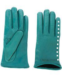 Emporio Armani Stud Detail Gloves - Green
