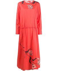 Marni Платье С Цветочным Принтом - Красный