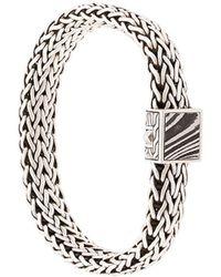 John Hardy Bracelet à large chaîne - Métallisé