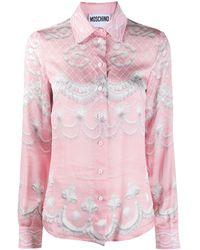 Moschino Camisa con estampado Icing - Multicolor