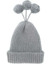 Thom Browne Cashmere Blend Pom-pom Hat - Gray