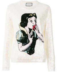 Gucci Трикотажный Свитер 'snow White' - Белый