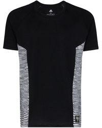 adidas T-shirt X Missoni à empiècement rayé - Noir