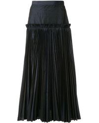 Enfold ハイウエスト プリーツスカート - ブラック