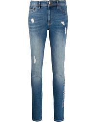 Philipp Plein High Waisted leggings - Blue