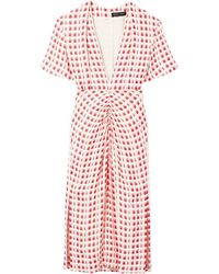 Proenza Schouler Checked Shortsleeved Dress - White