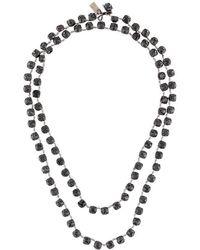 Ann Demeulemeester - Strass Necklace - Lyst