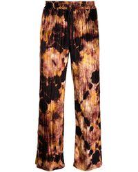 Garçons Infideles Hose mit Batik-Print - Schwarz