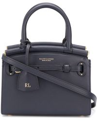 Ralph Lauren Collection The Rl 50 Small Tote Bag - Blue