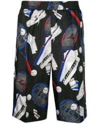 MSGM - Tennis Print Sports Shorts - Lyst