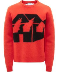 JW Anderson Burning House セーター - レッド